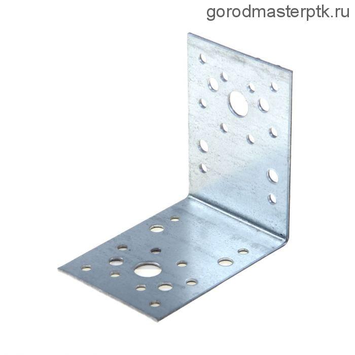 Уголок крепежный оцинкованный 90х90х65х2 мм